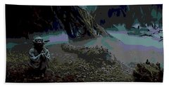 Yoda In Meditation Beach Towel