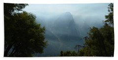 Yosemite Falls Hike Beach Towel