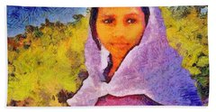 Young Moroccan Girl Beach Sheet