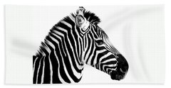 Zebra Beach Towel by Rebecca Margraf