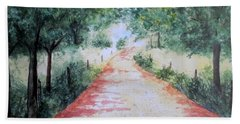 A Country Road Beach Towel by Vicki  Housel