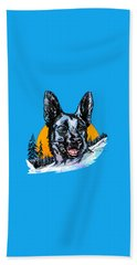 Alsatian Beach Towel