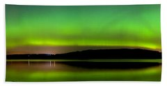 Aurora Over The Beauly Firth Beach Towel