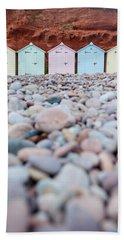 Beach Huts And Pebbles Beach Towel
