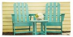 Blue Adirondack Chairs  Beach Towel