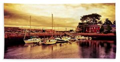 Down At The Dock Beach Towel