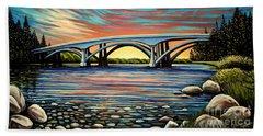 Folsom Bridge Beach Towel