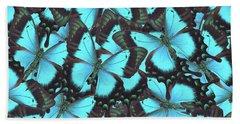 Green Swallowtail Butterfly Beach Towel by Anastasy Yarmolovich