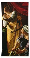 Judith And Maidservant With The Head Of Holofernes Beach Towel