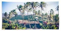 Beach Towel featuring the photograph  Lanakila 'ihi'ihi O Iehowa O Na Kaua Church Keanae Maui Hawaii by Sharon Mau