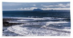 Point Loma And Islos Los Coronados Beach Sheet by Daniel Hebard