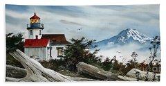 Point Robinson Lighthouse And Mt. Rainier Beach Sheet