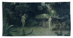 Scene From 'a Midsummer Night's Dream Beach Towel by Francis Danby