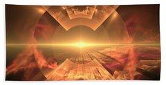 Beach Sheet featuring the digital art  Supernova  by Svetlana Nikolova