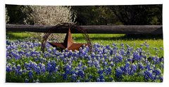 Texas Bluebonnets IIi Beach Sheet by Greg Reed