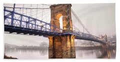 The Roebling Bridge Beach Towel