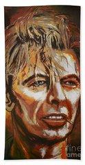 Beach Towel featuring the painting  Tribute To David by Andrzej Szczerski