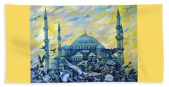 Turkey. Blue Mosque Beach Towel by Anna Duyunova