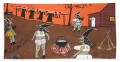 Witches Wash Day Beach Towel