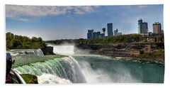 004 Niagara Falls  Beach Towel by Michael Frank Jr