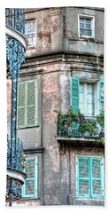 0254 French Quarter 10 - New Orleans Beach Towel