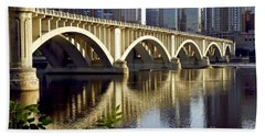 0333 3rd Avenue Bridge Minneapolis Beach Towel