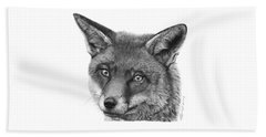 044 Vixie The Fox Beach Towel