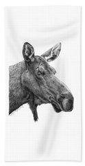 048 - Shelly The Moose Beach Sheet by Abbey Noelle