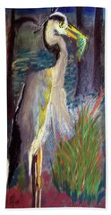 052916 Blue Heron Beach Towel