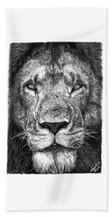 059 - Lorien The Lion Beach Towel