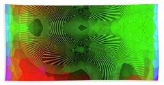 Beach Towel featuring the digital art #061120172 by Visual Artist Frank Bonilla