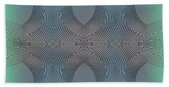 Beach Towel featuring the digital art #061220171 by Visual Artist Frank Bonilla