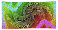 Beach Towel featuring the digital art #061520171 by Visual Artist Frank Bonilla
