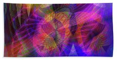Beach Towel featuring the digital art 071020172 by Visual Artist Frank Bonilla