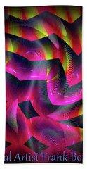 Beach Towel featuring the digital art 071220176 by Visual Artist Frank Bonilla