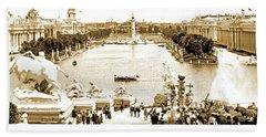 1904 World's Fair, Grand Basin View From Festival Hall Beach Sheet