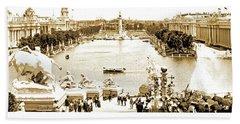 1904 World's Fair, Grand Basin View From Festival Hall Beach Towel