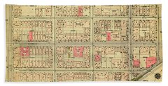 1927 Inwood Map  Beach Towel