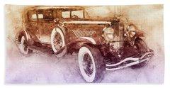 1928 Duesenberg Model J 2 - Automotive Art - Car Posters Beach Towel