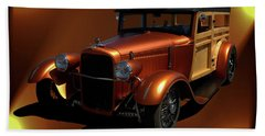 1929 Ford Model A Woody Beach Towel