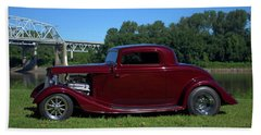 1934 Ford Coupe Beach Towel
