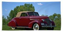 1939 Chevrolet Convertible Beach Towel