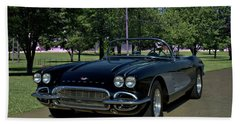 1961 Corvette Beach Towel