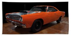 1969 Plymouth Road Runner A12 Beach Towel