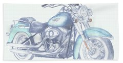 2015 Softail Beach Towel by Terry Frederick