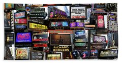 2016 Broadway Fall Collage Beach Towel