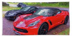 2017 Chevrolet Corvette Zo6 Painted  Beach Sheet