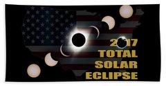 2017 Total Solar Eclipse Across America Beach Towel