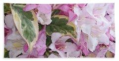 Pink Flowers Beach Towel