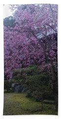 Shidarezakura Mean A Drooping Cherry Tree  Beach Towel